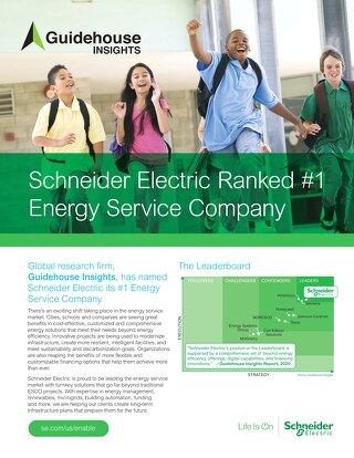 Schneider Electric Ranked #1 Energy Service Company