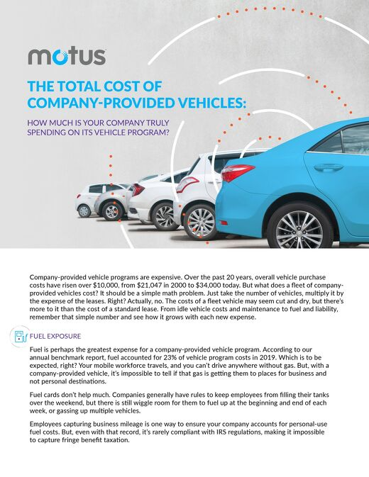 The Total Cost of Company-Provided Vehicles Guide