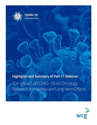 Part 11: The Impact of COVID-19 on Oncology Research: Immediate and Long-term Effects