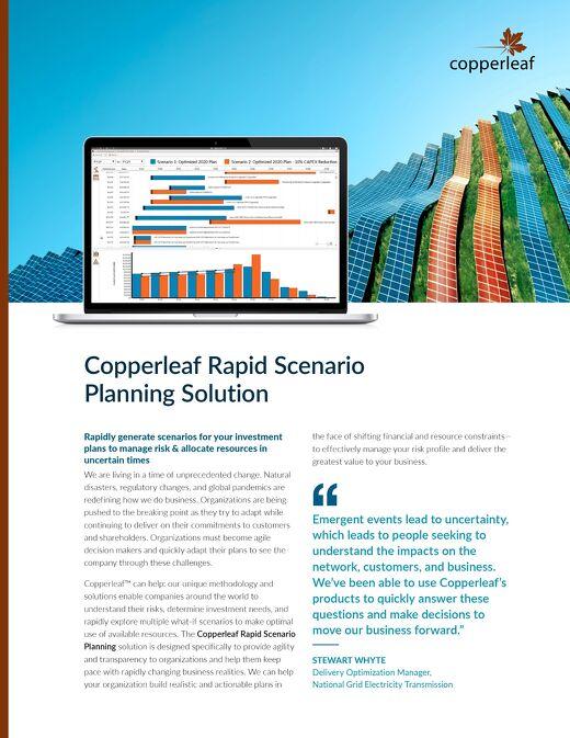 Copperleaf Rapid Scenario Planning