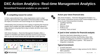 DXC Action Analytics: Real Time Management Analytics for Finance and Sales