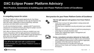 Power Platform Advisory Services - value added services from DXC