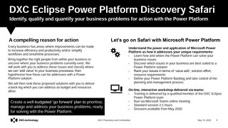 Power Platform Workshop: Problem Discovery Safari - value added services from DXC