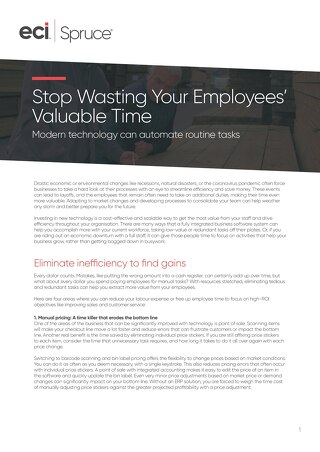 How to get the most out of employee time. Whitepaper