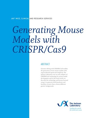 Generating Mouse Models with CRISPR/Cas9