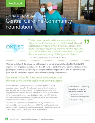 Customer Spotlight: Central Carolina Community Foundation