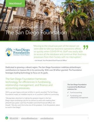 Customer Spotlight: The San Diego Foundation