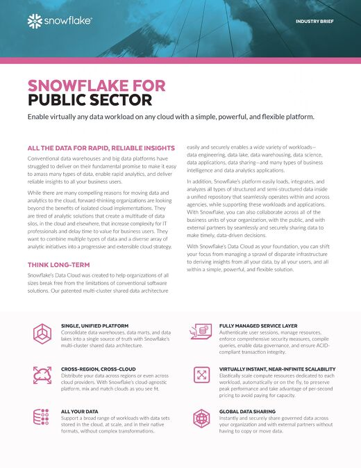 The Cloud Data Platform for Government