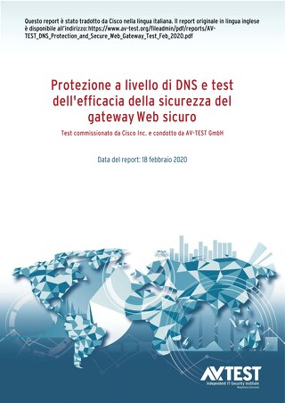 Test commissionato da Cisco Inc. e condotto da AV-TEST GmbH