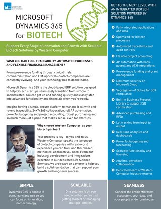 Microsoft Dynamics 365 for Biotech