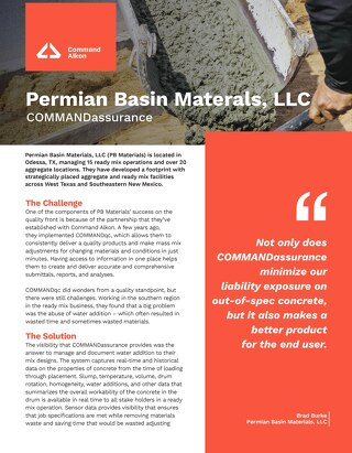 Permian Basin Materials, LLC COMMANDassurance Case Study