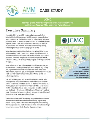 Case Study - JCMC Technology and Workflow Improvements Lower Costs, Increase Revenue, Improve Patient Service