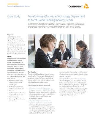 Transforming eDisclosure Technology Deployment to Meet Global Banking Industry Needs_UK