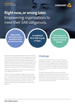 Empowering organizations to meet their SAR obligations.
