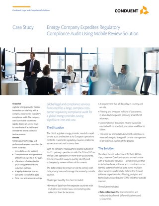 Energy Company Expedites Regulatory Compliance Audit Using Mobile Review Solution_UK
