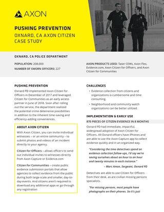 Case Study: Oxnard PD Axon Citizen