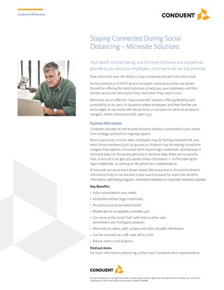 Staying Connected During Social Distancing – Microsite Solutions