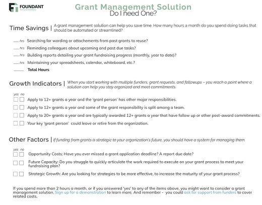 Grant Management Solution Do I Need One?