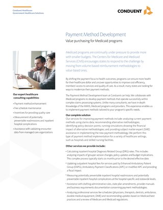 Payment Method Development Solution Brochure