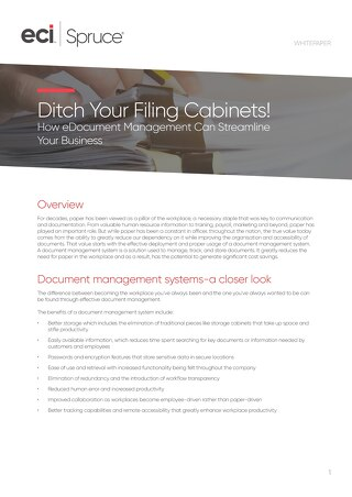 Ditch Your Filing Cabinets Whitepaper
