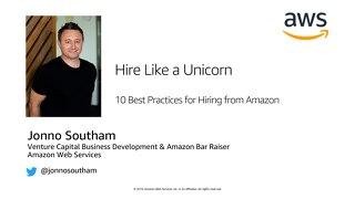 AWS for Startups: Hire like a Unicorn