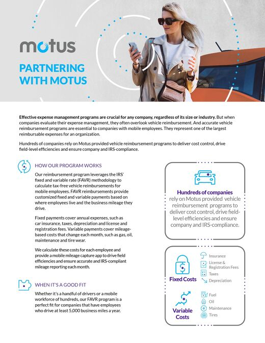 Partnering With Motus - Car Allowance