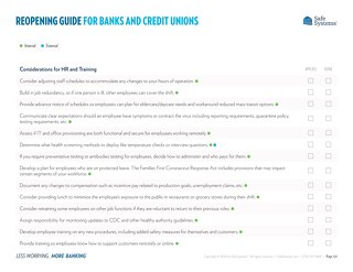 Reopening Guide for Banks and Credit Unions