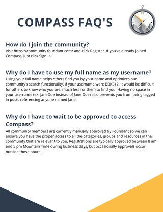 Compass FAQ's