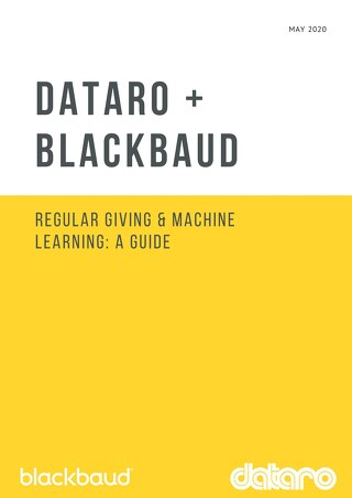 Dataro - Machine Learning and Regular Giving Guide