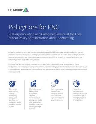 PolicyCore for P&C (2015)