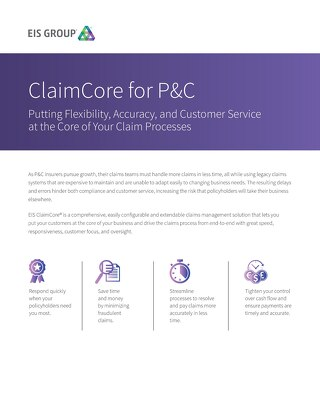 ClaimCore for P&C (2015)