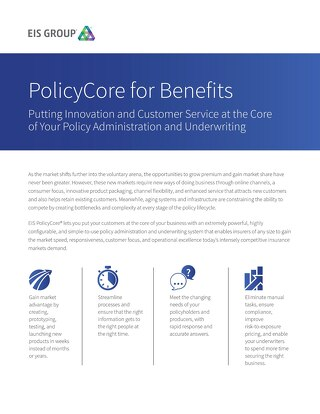 PolicyCore for Benefits (2015)