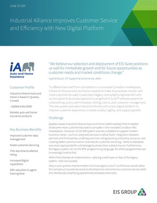 Industrial Alliance Improves Customer Service and Efficiency with New Digital Platform