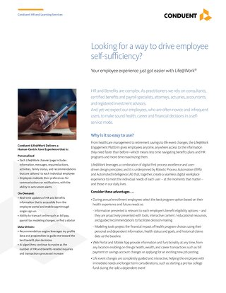 HRS Life@Work Engagement Platform for HR and Benefits