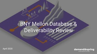 BNY Database and Email Deliverability Report April 2020