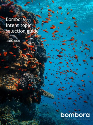 Bombora Intent topic selection guide