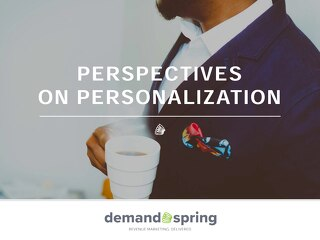 Perspectives On Personalization June 2016
