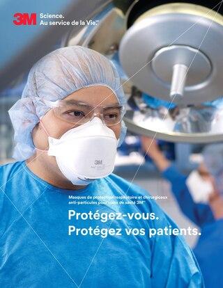Masques de protection respiratoire et chirurgicaux anti-particules pour soins de santé 3M