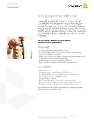 Learning Organization Optimization