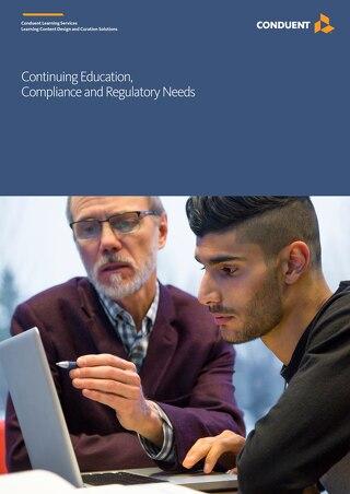 Continuing Education, Compliance and Regulatory Needs
