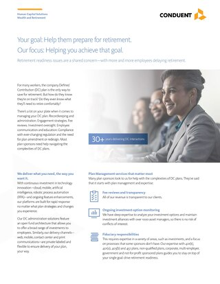 HRLS Wealth and Retirement Defined Contribution (DC) Services