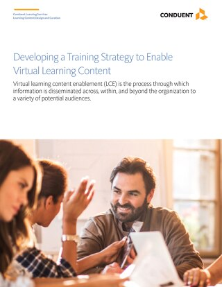 Developing a Training Strategy to Enable Virtual Learning Content