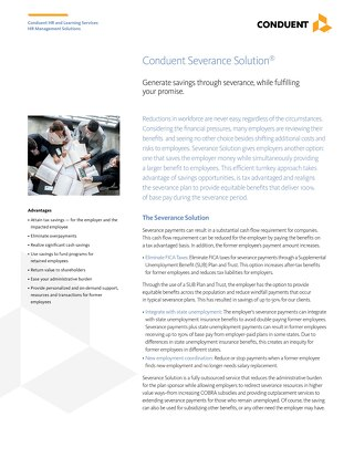 Conduent Severance Solution