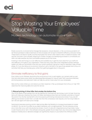 Stop Wasting Employee Time - Home and Building Supply Whitepaper
