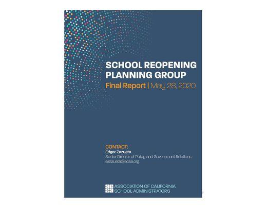 ACSA School Reopening Report May 2020