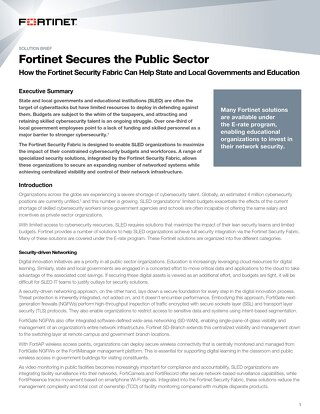 Fortinet Secures the Public Sector
