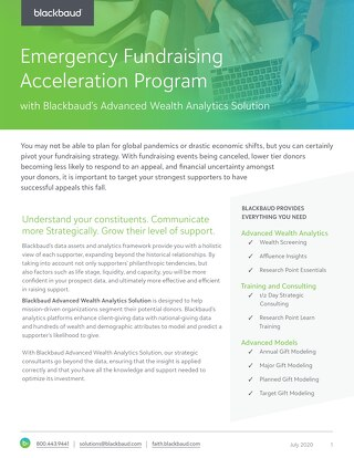 Emergency Fundraising Acceleration Program
