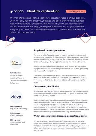 Datasheet: Marketplaces