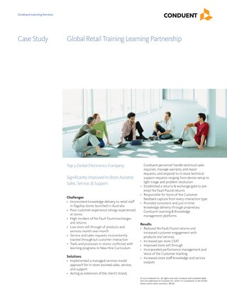 Case Study: Hi-Tech Global Retail Training