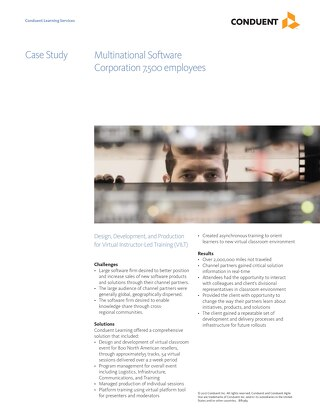 Case Study: Global Software Company VILT